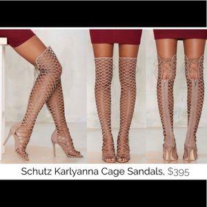 Schultz Karlyanna OTK Caged Sandal Boot NEW IN BOX